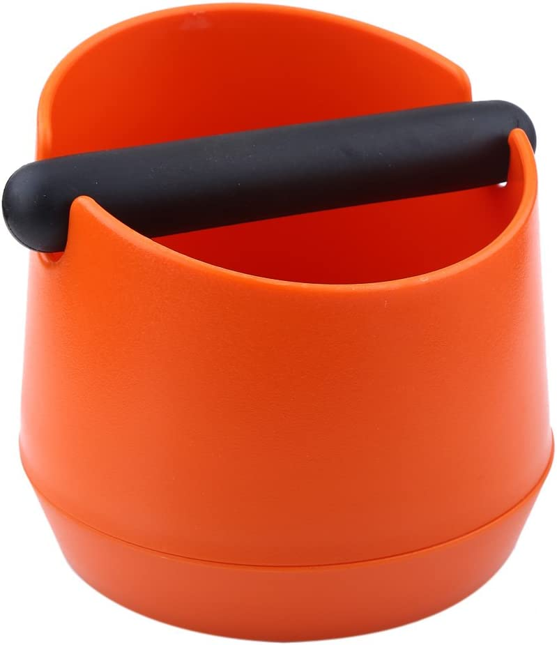 Orange Coffee Knock Box Coffee Grind Knock Box Espresso Knock Box with Detachable Rubber Bar