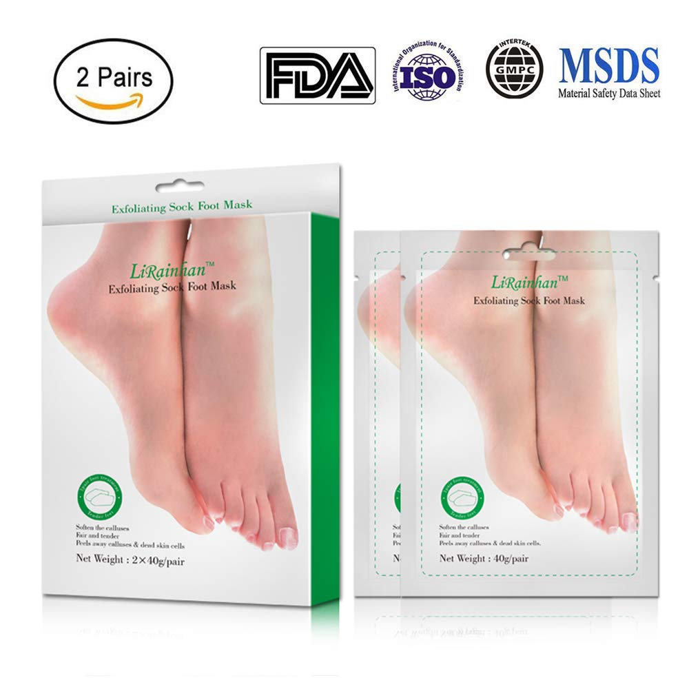 Exfoliating Foot Peel Mask,ETRONG Peeling Booties Sockets Gently Peel Away Calluses & Dead Skin, Repair Rough Heels, Get Beautiful Baby Feet in 7 Days(2 Pairs) (Olive)
