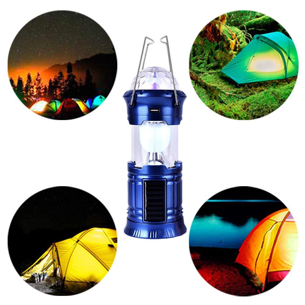 Recargable por USB para emergencias L/ámpara Solar port/átil 3 en 1 para Camping para Camping o Escenario EisEyen