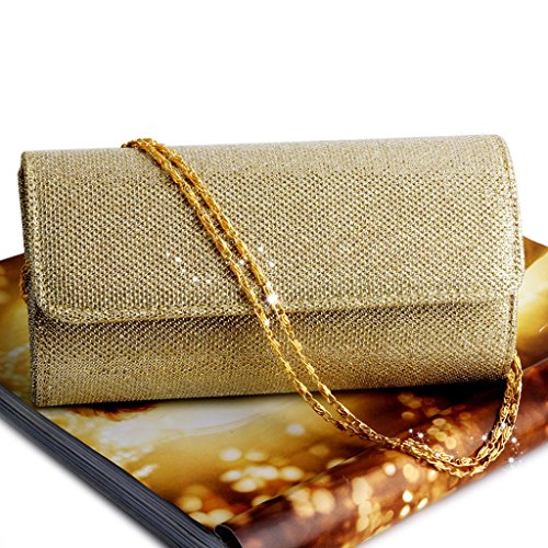 Party Clutch Women's Wedding Bridal Bag Shoulder Gold Prom Handbag Evening BYNNIX Envelope nYxq6Xq