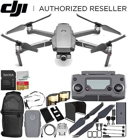 e170f6797bf Amazon.com : DJI Mavic 2 Zoom Drone Quadcopter with 24-48mm Optical Zoom  Camera Every-Day Starter Bundle : Electronics