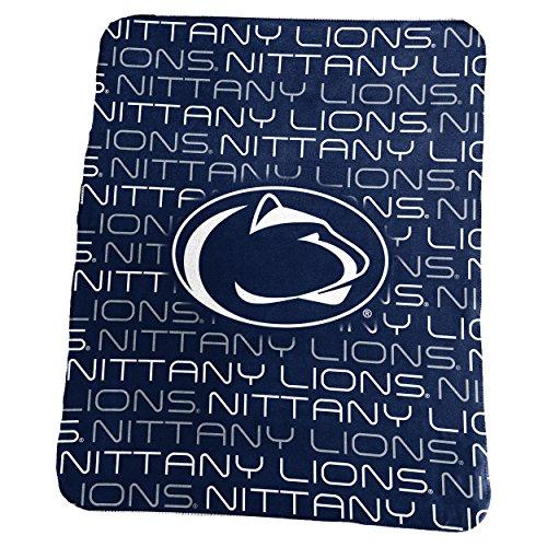 Logo Brands NCAA Penn State Nittany Lions Classic Fleece, One Size, (Penn State Fleece Blanket)