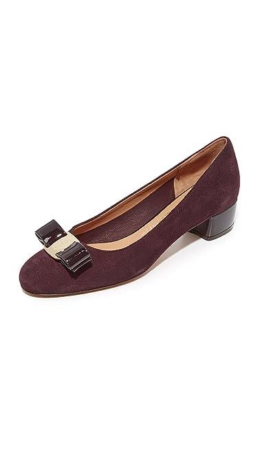 b1ab38a90830 Amazon.com  Salvatore Ferragamo Women s Vara Low Heel Pumps  Shoes