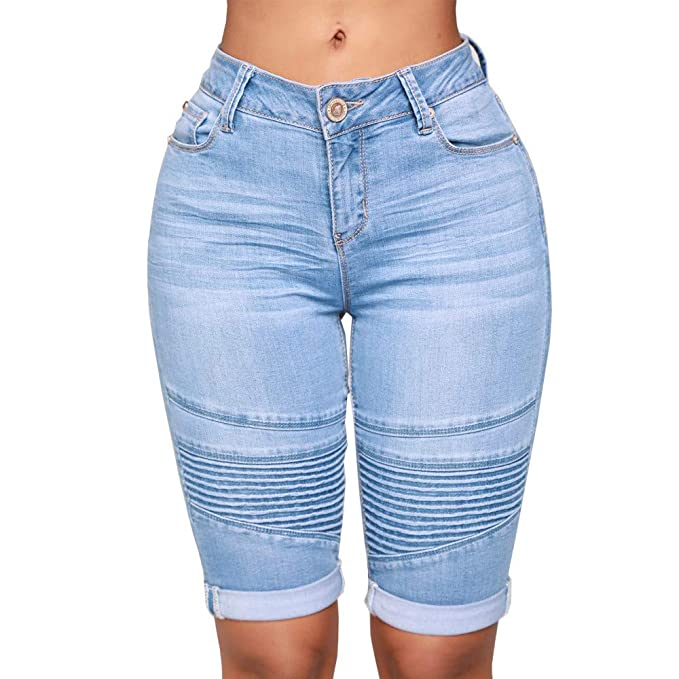Amazon.com: Pantalones vaqueros para mujer, ajustados ...
