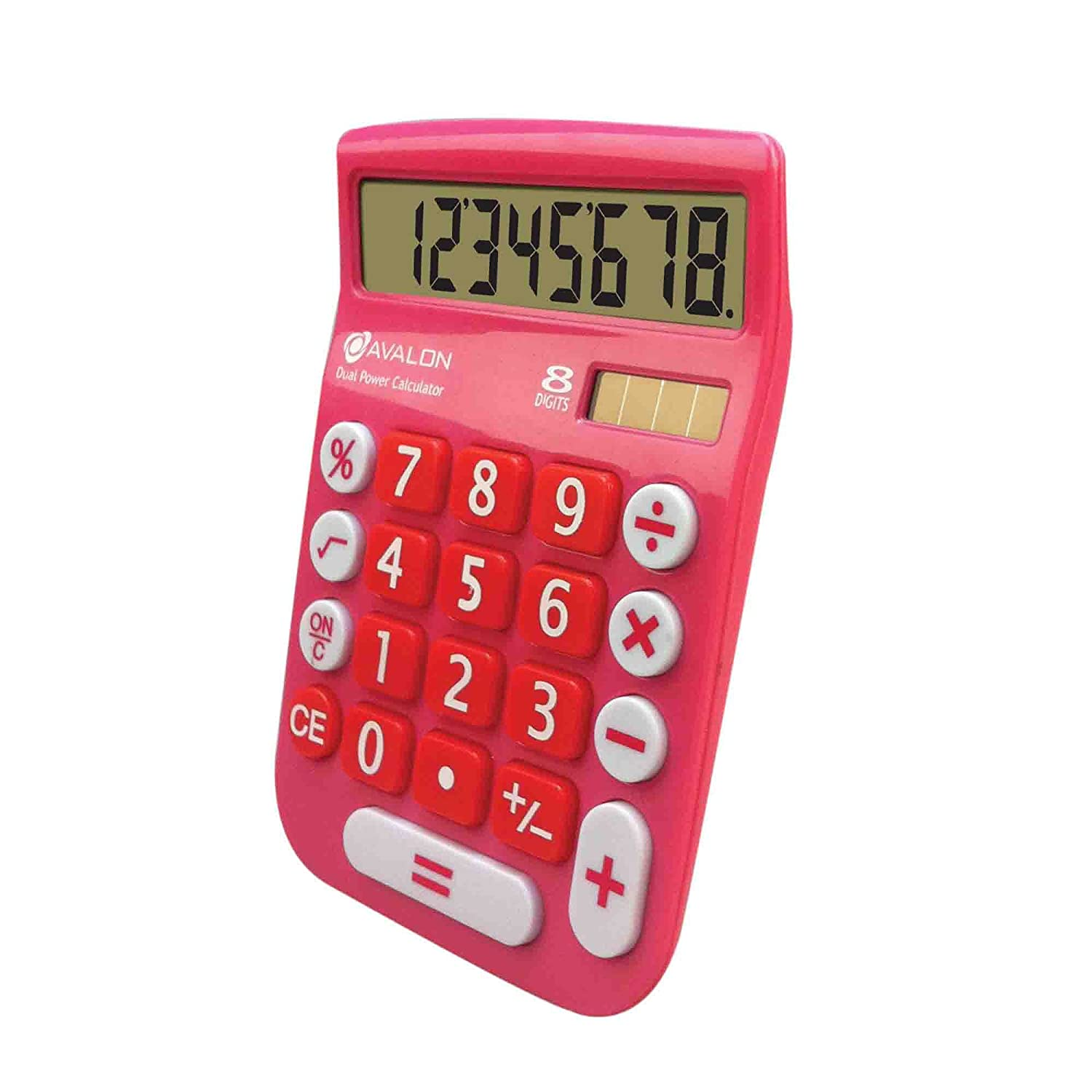 Office Style 8 Digit Dual Powered Desktop Calculator Casio Colorful Ms 20uc Black Lcd Display Pink Electronics