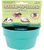 Ware Manufacturing Plastic Slide-N-Lock Crock Pet Bowl for Small Pets, 10 Ounce - Assorted Colors