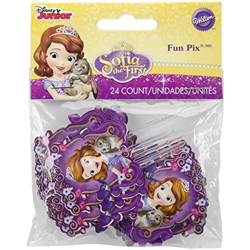 Wilton 2113-2376 Sofia The First Fun Pix Cupcake Decor
