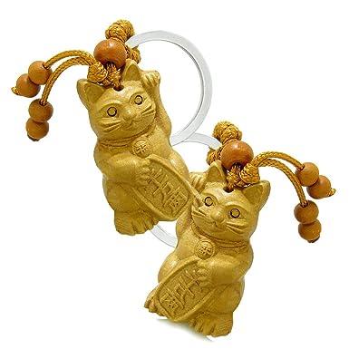 Amazon.com: Amuleto fortuna Maneki Neko Gato Encanto De ...