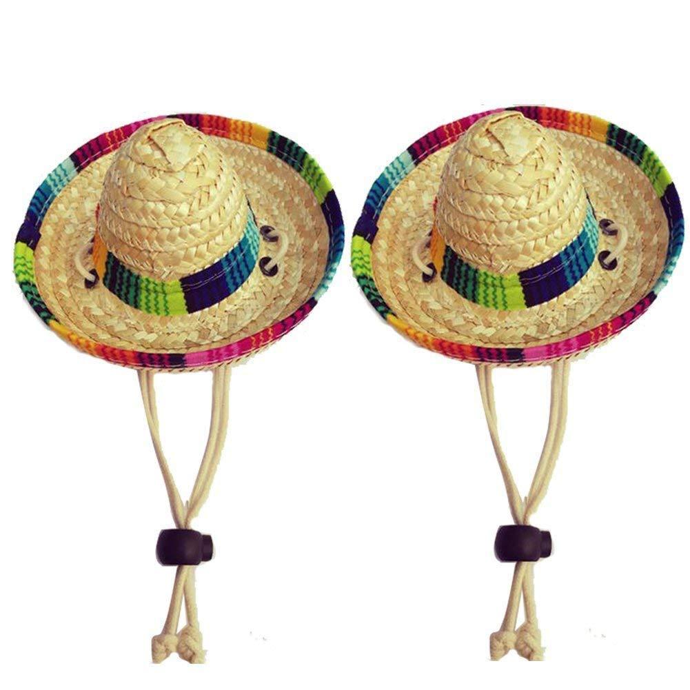 GFEU Sombrero de paja para perros, pack de 2, divertido estilo ...