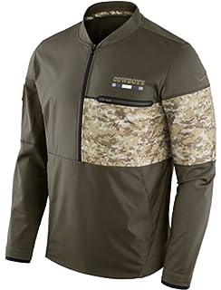 Dallas Cowboys Nike Salute to Service Sideline Hybrid Half-Zip Pullover  Jacket b7ac3c3a8