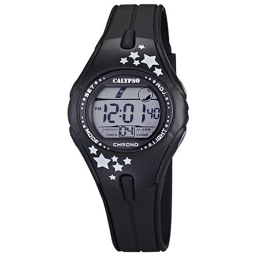 Calypso K5612/4 - Reloj digital de mujer, con correa color negro: CALYPSO: Amazon.es: Relojes