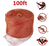 Copper Mesh,for Pest Control,Mouse Rodent Bat Snake Snail Insect Control,Mesh Scrubber,Fill Fabric DIY,100 Feet,Pure Copper