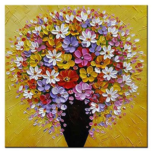 -Colorful Flowers Wall Art 3D Oil Paintings on