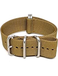 DaLuca Ballistic Nylon Military Watch Strap - Sand (Matte Buckle) : 26mm