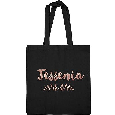 Jessenia Metallic Rose Gold Tote: Liberty Bags Canvas Tote Bag