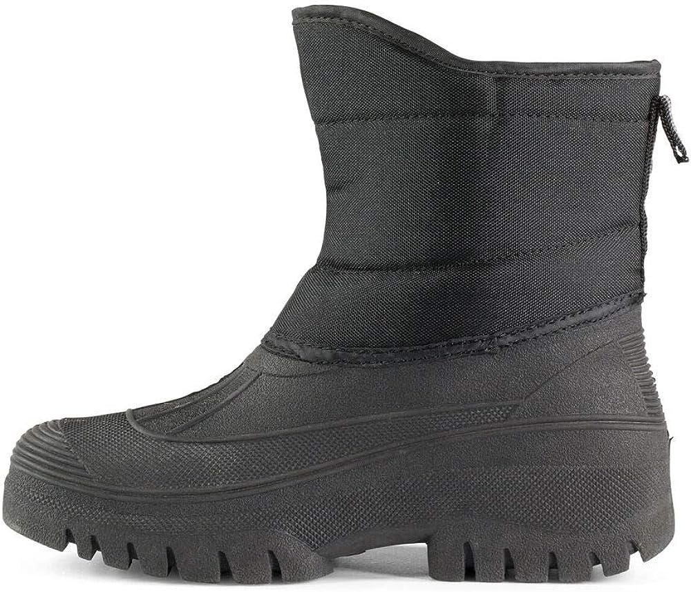 Schwarz horze Winter Stallstiefel Pro Stallarbeiten und vielseitig im Alltag bei kaltem Wetter einsetzbar Oxford Nylon und Gummi alle Gr/ö/ßen