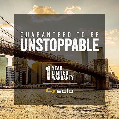 Solo Flatiron 14.1 Inch Laptop Slim Brief, Black/Grey by SOLO (Image #5)