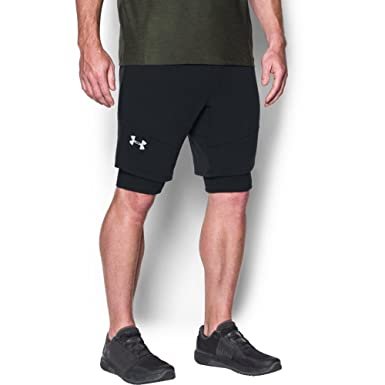 Under Armour Mens Threadborne Fleece Patterned Shorts