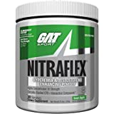 GAT - NITRAFLEX - Testosterone Enhancing Powder, Increases Blood Flow, Boosts Strength and Energy, Improves Exercise Performance, Creatine-Free (Green Apple, 30 Servings)