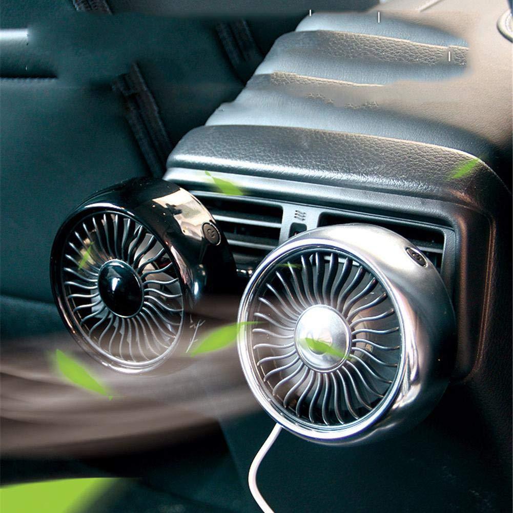 5W Acondicionador de Aire del Ventilador del Coche USB Ventilaci/ón Ventilador de Refrigeraci/ón del Coche Ajuste 3 Speed Tablero de Instrumentos Ventilador de Enfriamiento Viento Fuerte Bajo Ruido