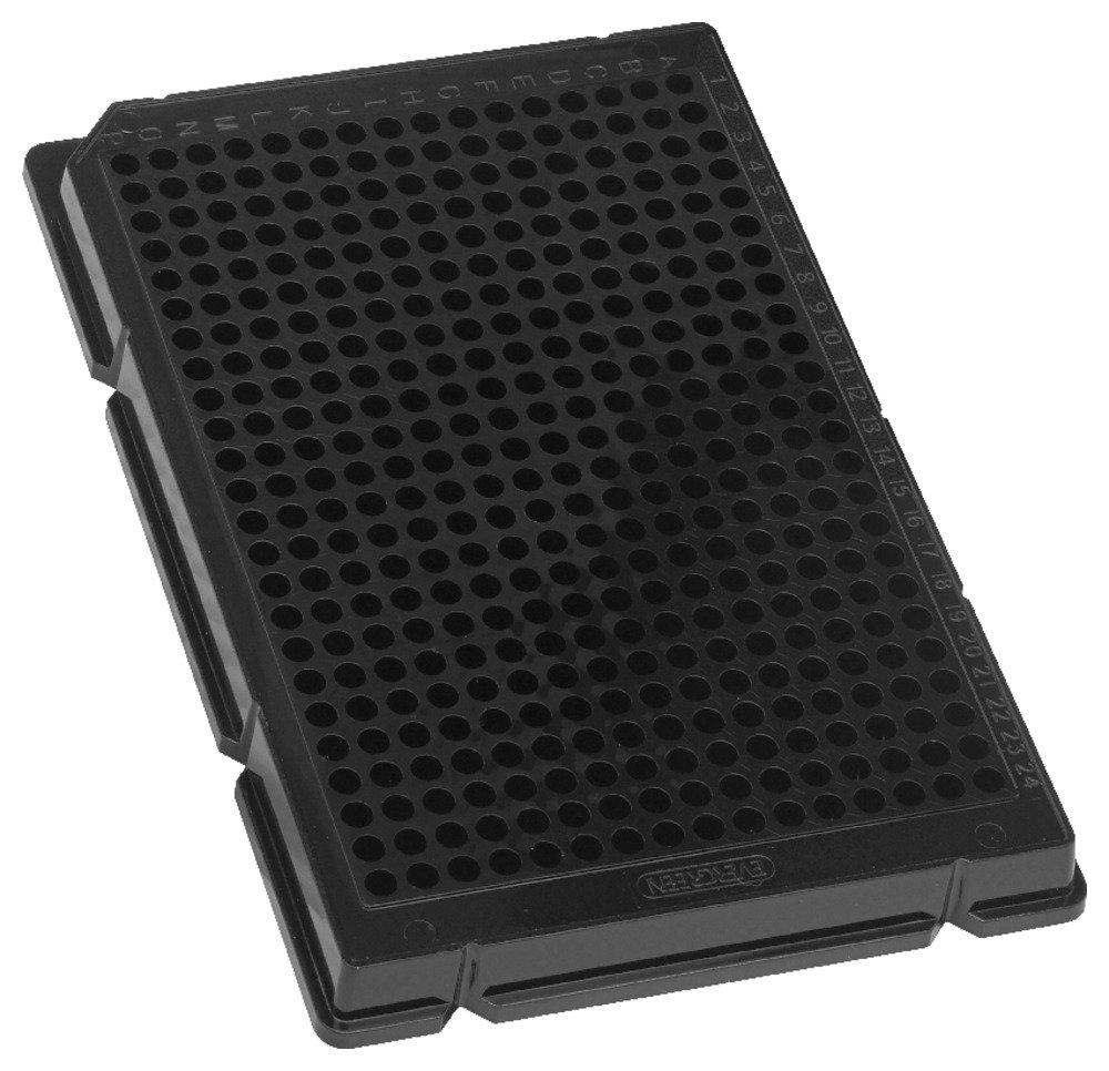 Caplugs Evergreen 290-8225-Z10 384-Well Plates. Polystyrene, Black, Box pack by Caplugs