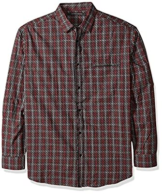 Sean John Men's Big and Tall Long Sleeve Graphic Woven Shirt