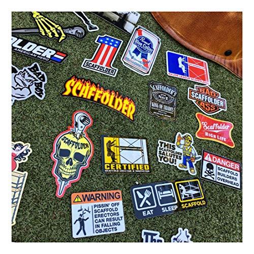 (40+) Scaffolder Hard Hat Stickers Hardhat Sticker & Decals, Scaffold Carpenter by Unknown (Image #3)
