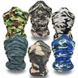 Best Face Shields - Headwear-6PCS Scarf Bandanna Headband Yoga Sports Headband,Head Wrap,Balaclava Review