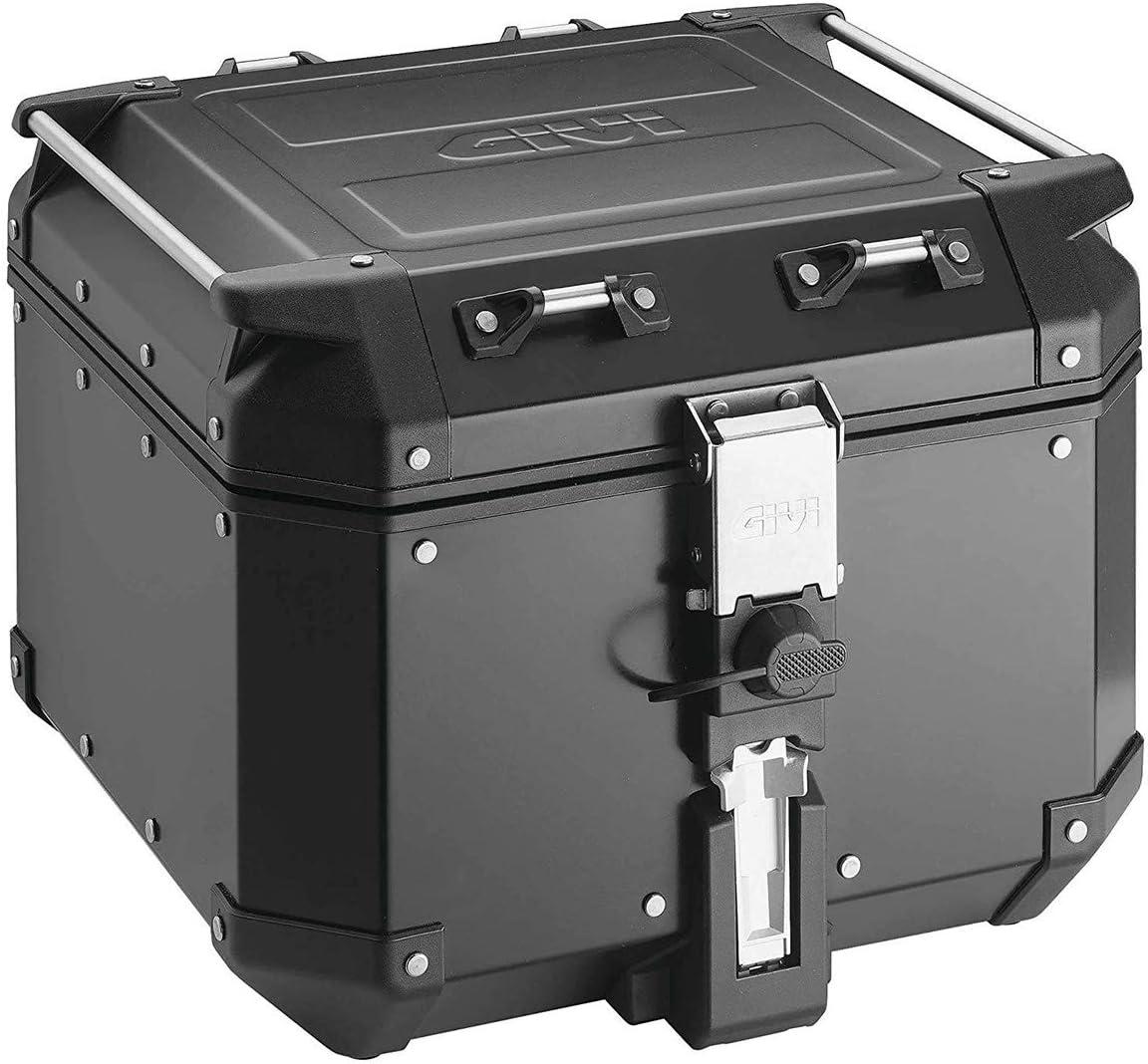 Givi OBK42B Baúl Trekker Outback Monokey, Aluminio, Color Negro, 42 litros, Carga Máxima 10 Kg