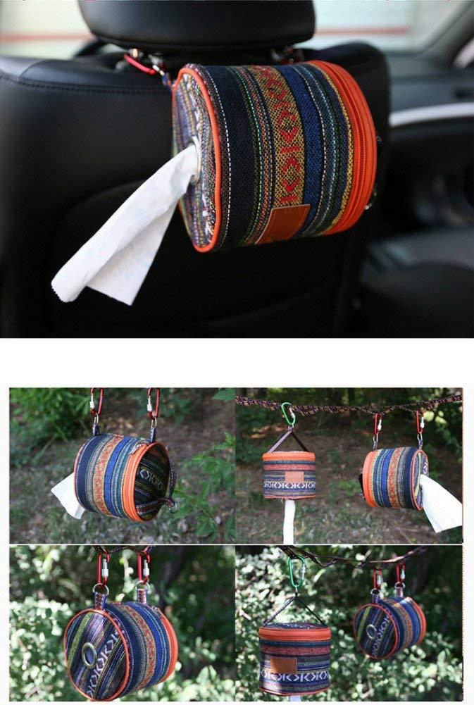 WEILIVE Tissue Box Cover Halter Tissue Tissue Tissue Box tragbare Mehrzweck-Gewebe Set ethnischen Windrolle Tissue Box Outdoor Camping Tissue Box Bag Serviette Tissue Box Taschentuchhalter B07Q29MSKY Toilettenpapieraufbewahrung 5a4ea2