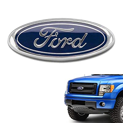 99 CarPro F150 Front Grille Tailgate Emblem for Ford, 9 inch Dark Blue Oval Decal Badge Nameplate Fit for FORD 2004-2014 F250 F350, 11-14 Edge, 11-16 Explorer, 06-11 Ranger (Blue Emblem): Automotive