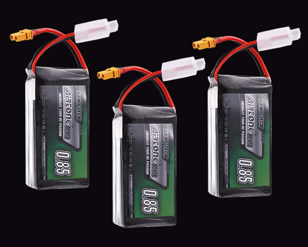 74V 2S3S 850mAh 30C batería de Litio JST Head RC Racing a través ...