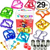 vegetable cutter kids - 29pc Sandwich Cutter Set for Kids of All Ages - Turn Vegetables, Fruits, Cheese, and Cookie Into Fun Bites - Add to Bento Box - Toddlers Boys & Girls - Easy to Use & Family Friendly