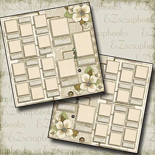 (FAMILY TREE - Premade Scrapbook Pages - EZ Layout 566)