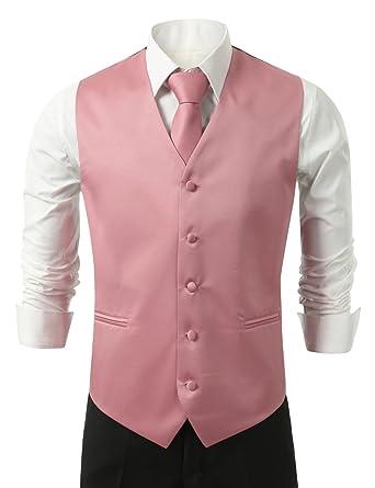 IDARBI Hombre 3 Piezas Vestido Chaleco, Corbata y pañuelo para ...