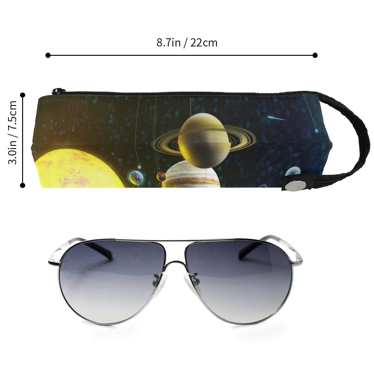 Pandas Wallpaper Glasses Case Portable Soft Sunglasses Ball Pen Bag Protective Box