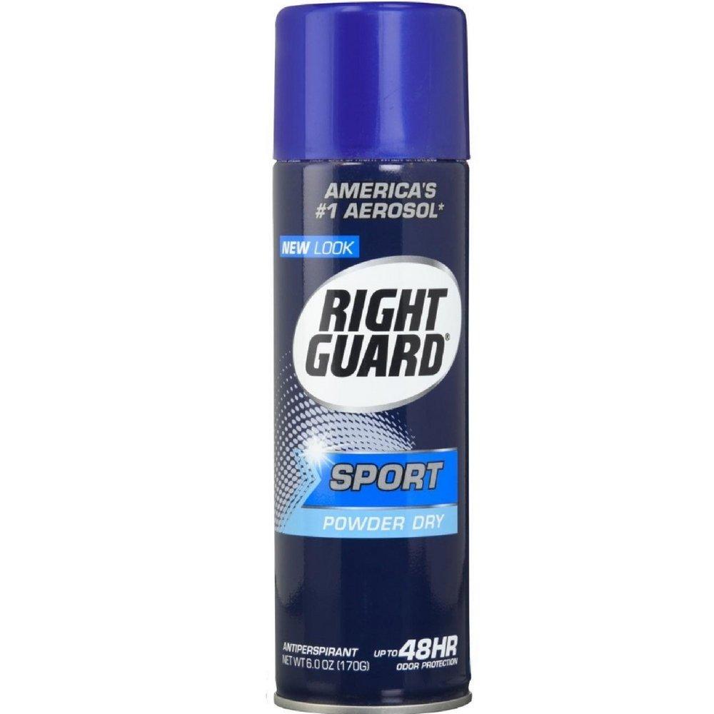 Right Guard Aerosol Sport Powder Dry Antiperspirant, 6 oz (Pack of 12)