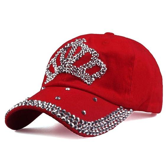 xiaochicun Corona Diamante Gorra de béisbol Algodón Gorra de ...