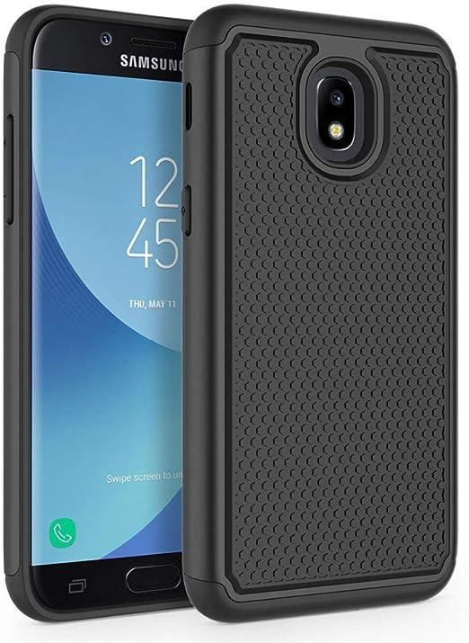 REBELCASE (SM-J337W) Coque résistante aux chocs et aux chocs pour Samsung Galaxy J3 2018 Noir