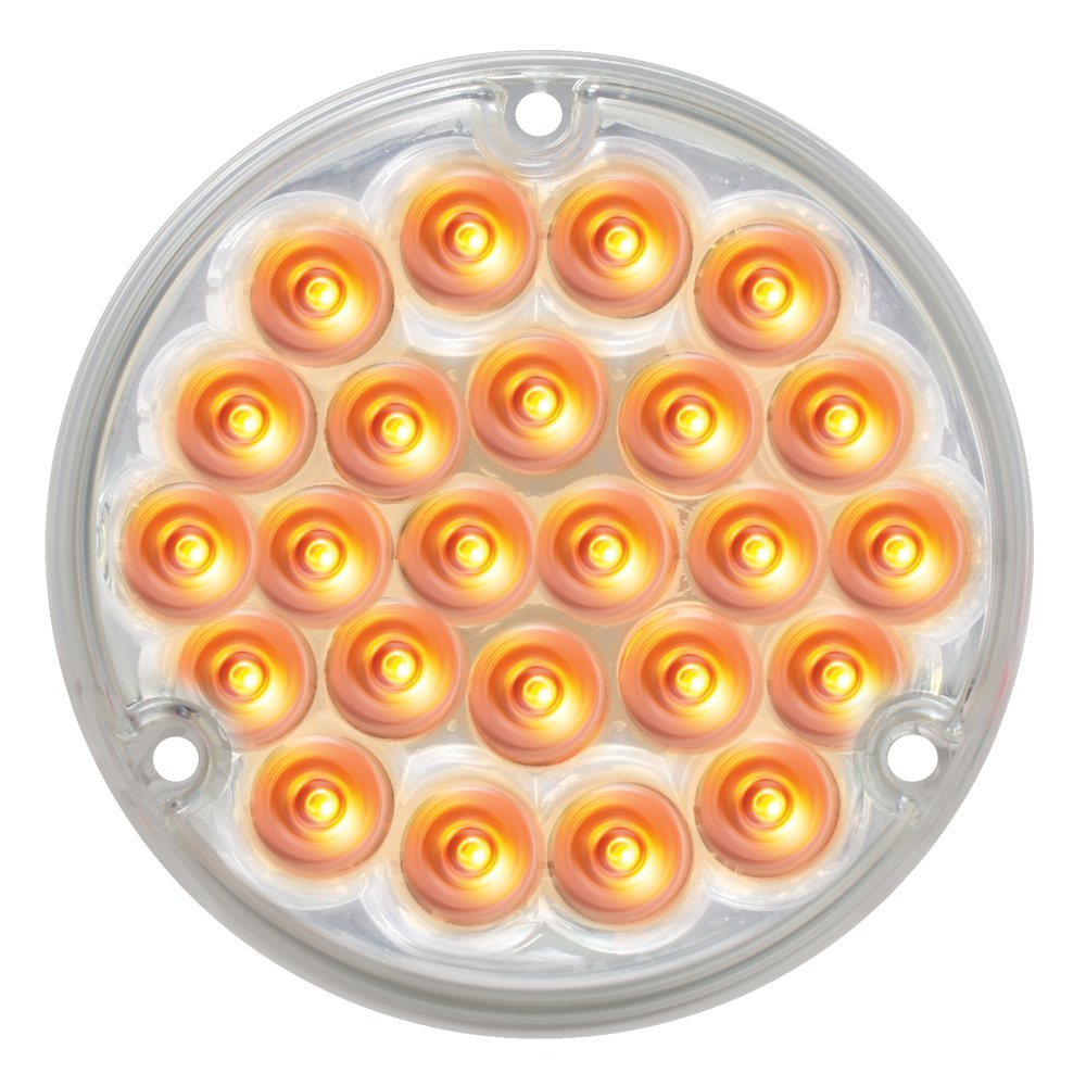 Grand General 76151 Amber 4 24-LED Stop//Turn//Tail Load Light