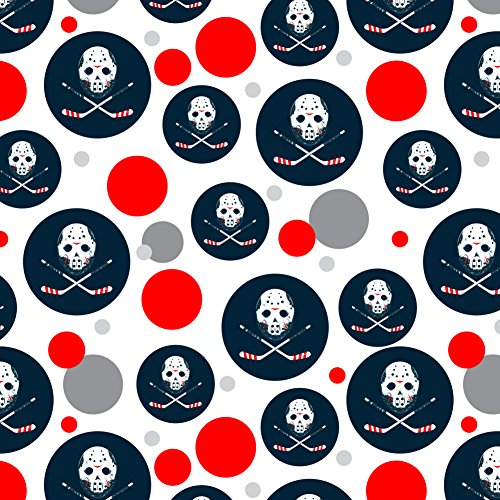 - GRAPHICS & MORE Hockey Mask Skull Crossbones Stick Premium Gift Wrap Wrapping Paper Roll