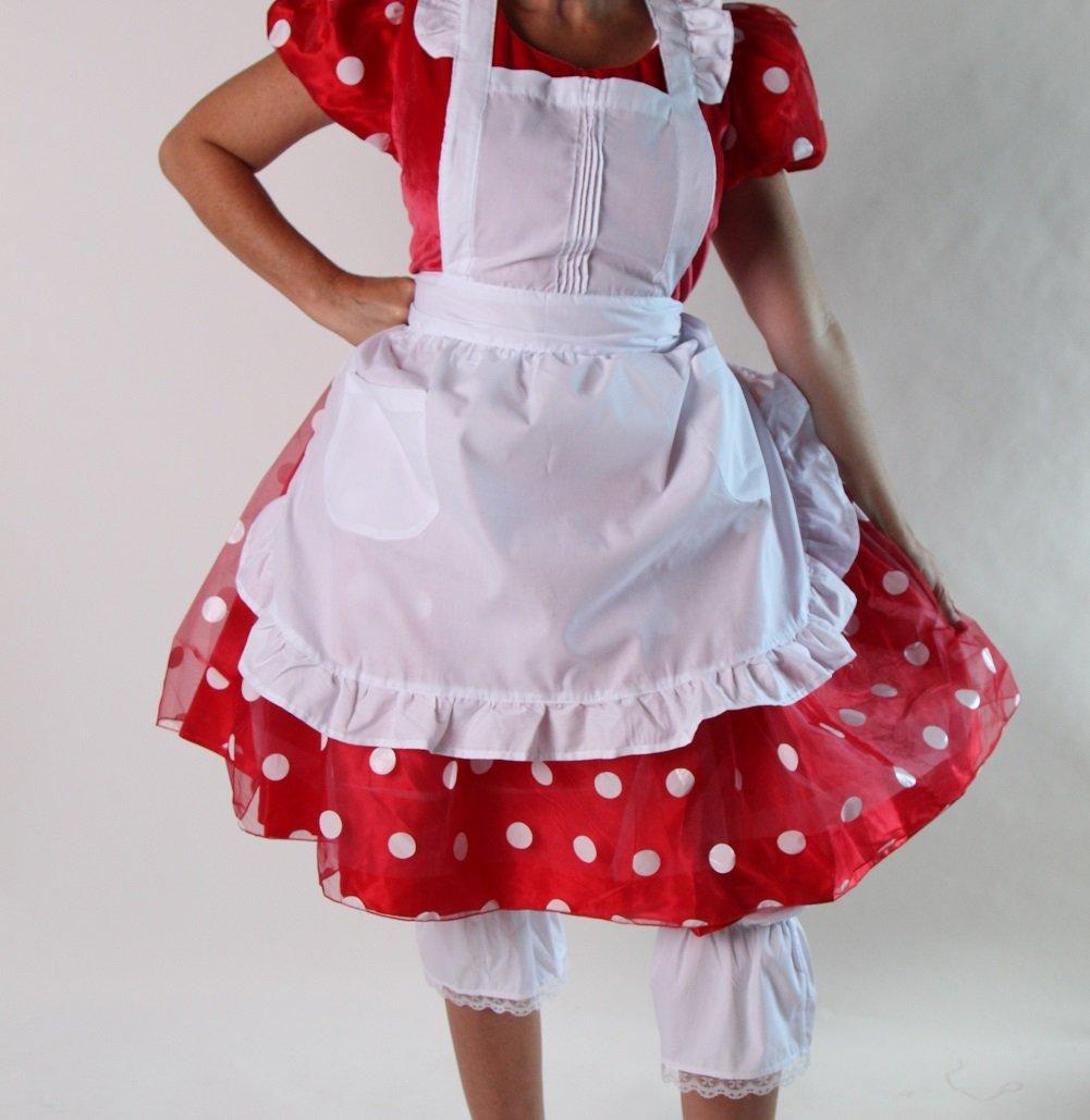 White pinafore apron costume - Amazon Com Teen Or Women S White Ruffled Pinafore Apron Smock Home Kitchen