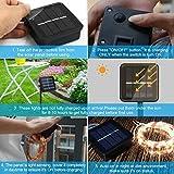 Moreplus Solar String Lights 72ft 200 LED Copper