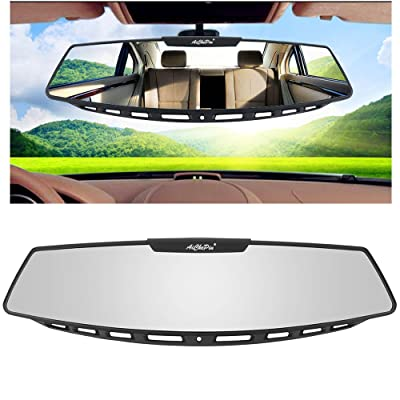 "Yoolight Car Rear View Mirror, 12"" Wide Angle Universal Curve Convex Rearview Mirror Interior Clip On Original Mirror (White Glass Mirror): Automotive"
