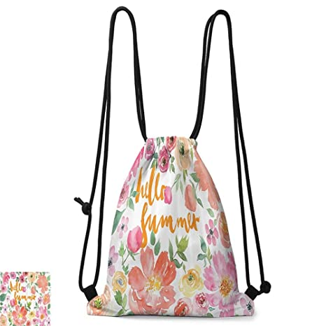 Amazon.com | Yoga backpack Summer Decor Collection Flower ...