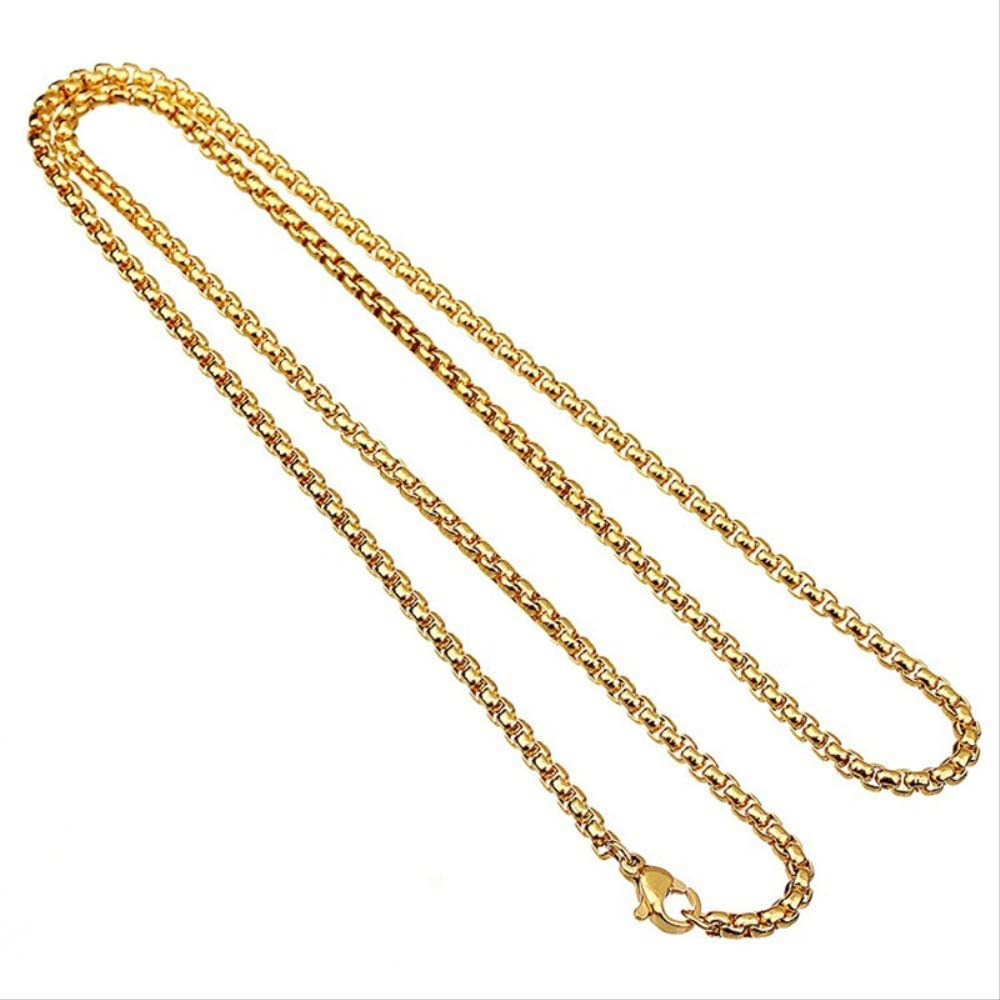 Men Girl Women Necklaces Birthday Gift Jewelry Fashion Wedding Party Pendant Gold Silver Hiphop Round Greek Rock