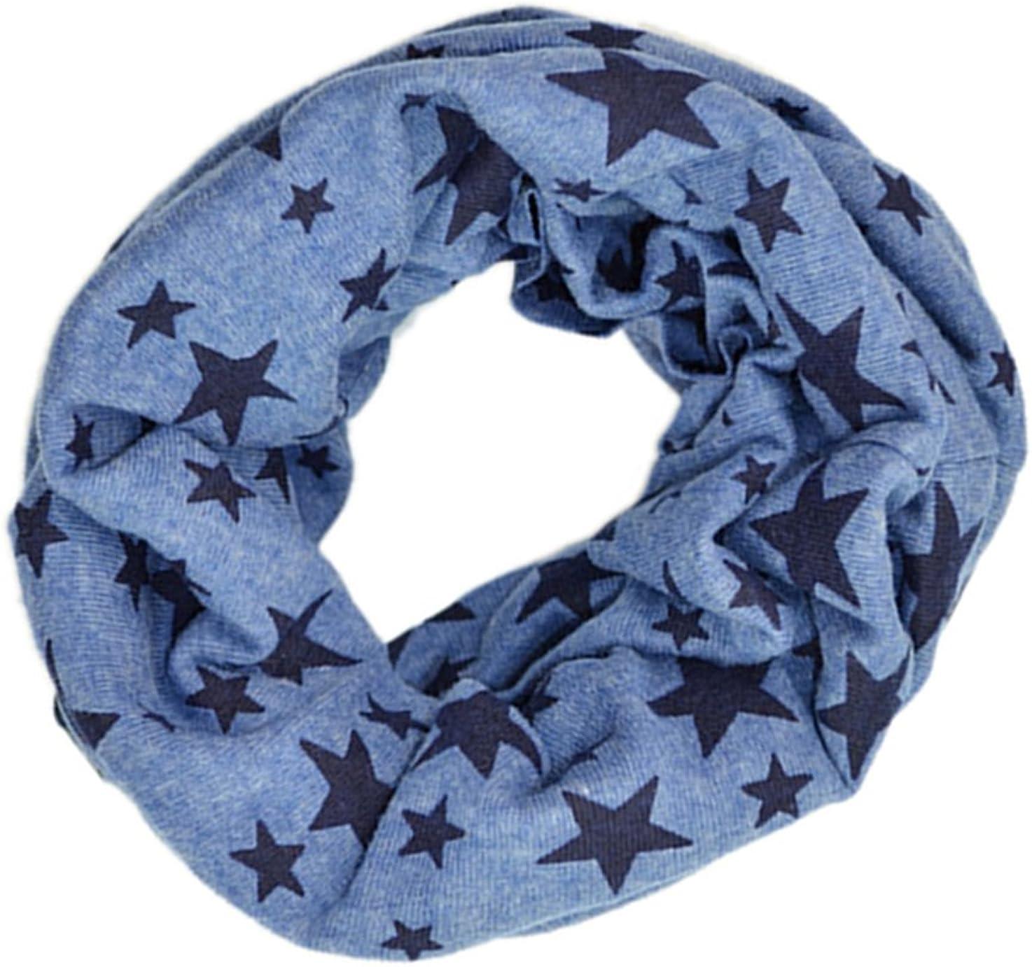 Echarpe bebe Echarpe de bebe unisexe Exharpe tricote d/¡/¯etoile a cinq branches Echarpe tour de cou?d/¡/¯hiver plus chaude Bleu R SODIAL