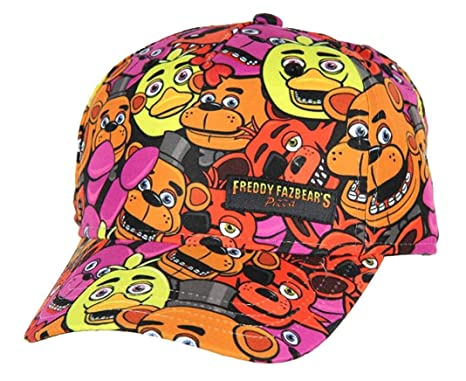 ac5a281c563 Image Unavailable. Image not available for. Color  Five Nights at Freddy s  Fazbears Pizza Allover Print Snapback Hat Youth Size