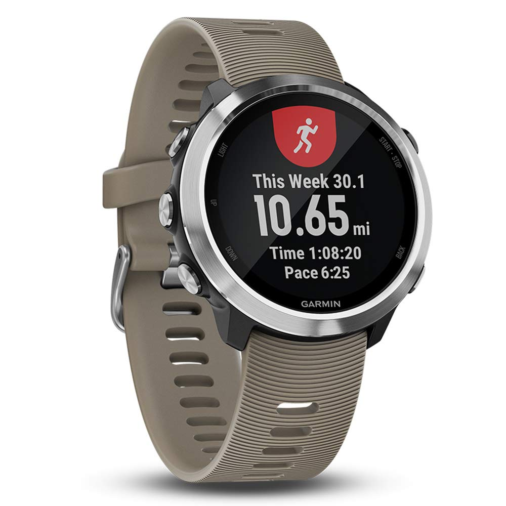 Garmin Forerunner 645 Bundle with Extra Band & HD Screen Protector Film (x4) | Running GPS Watch, Wrist HR, LiveTrack, Garmin Pay (Sandstone, White) by PlayBetter (Image #4)