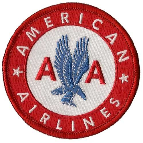 Aviation Collectibles International American Airlines Patch (Iron On Application)
